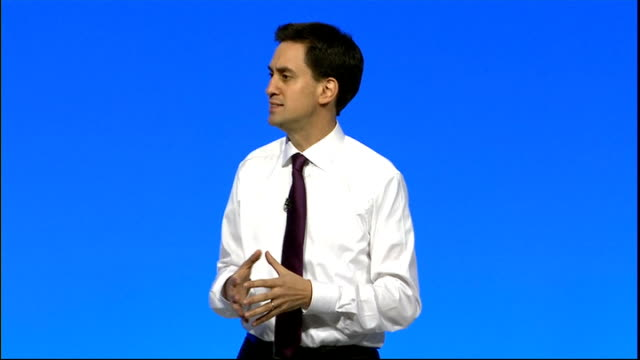 ed miliband question and answer session england manchester photography** ed miliband mp addressing conference delegates sot introduction / one nation... - responsibility stock videos & royalty-free footage