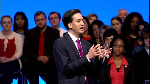 labour party conference: ed miliband speech; ed miliband speech continued sot - next, we need an education system that works for all young people.... - new age stock videos & royalty-free footage