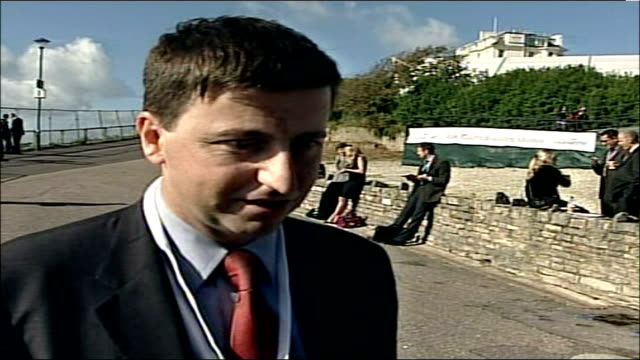 labour party conference: election speculation; douglas alexander mp interview sot - - douglas alexander stock videos & royalty-free footage