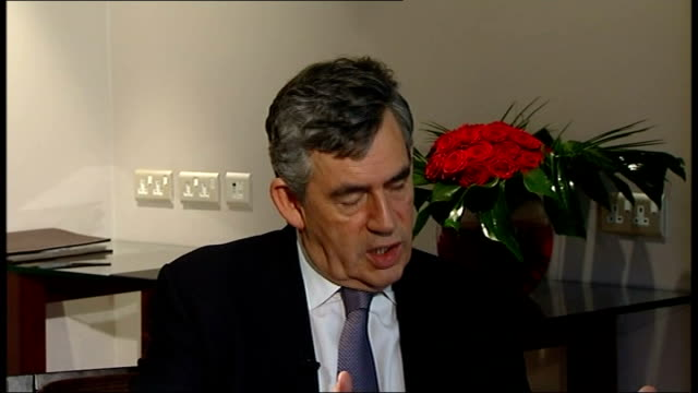 gordon brown interview gordon brown interview continued energy companies to pay a billion pounds to help energy policy and lower fuel bills taking... - low unemployment stock videos & royalty-free footage
