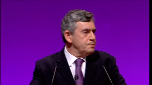 gordon brown keynote speech and where i've made mistakes i'll put my hand up and try to put them right so what happened with 10p stung me because it... - newly industrialized country stock videos & royalty-free footage