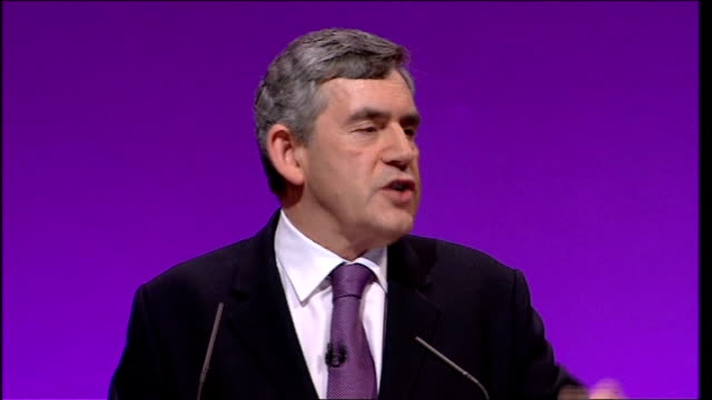 gordon brown keynote speech but these are yet to be turned into treatments from which we can all benefit from/ and so let me tell you today that the... - patientin stock-videos und b-roll-filmmaterial