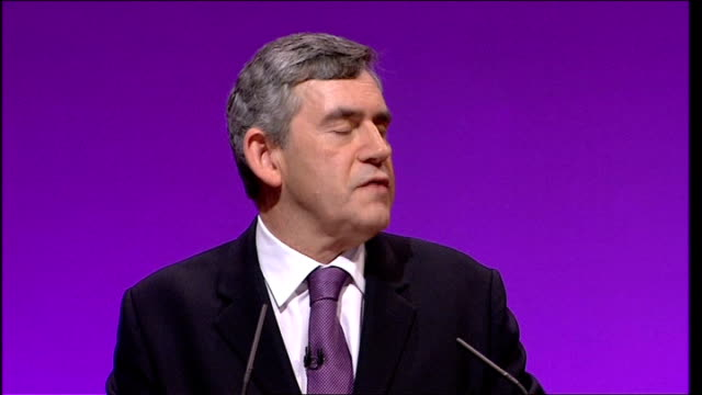 gordon brown keynote speech their strategy is to change their appearance to give the appearance of change and to conceal what they really think and... - keynote speech stock videos and b-roll footage