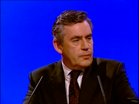 Gordon Brown's keynote speech Gordon Brown MP speech SOT I want an NHS personal to you / because you are seen by a consultant in a matter of days not...