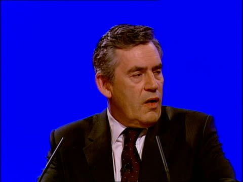 gordon brown's keynote speech gordon brown speech sot you know there is a golden thread of common humanity that across nations and faiths binds us... - murder victim stock videos & royalty-free footage