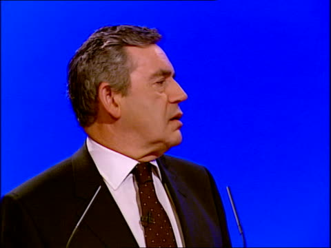 gordon brown's keynote speech gordon brown mp speech sot in britain today too many still cannot rise as far as their talents can take them / yet this... - ladder of success stock videos & royalty-free footage