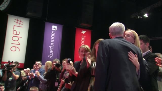 jeremy corbyn reelected as labour leader england liverpool photography** jeremy corbyn mp along and greeting people after announced as reelected... - owen smith politician stock videos & royalty-free footage