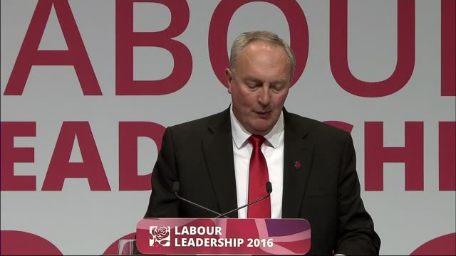jeremy corbyn reelected as labour leader england merseyside liverpool photography*** wide shot labour party conference jeremy corbyn mp and owen... - owen smith politician stock videos & royalty-free footage