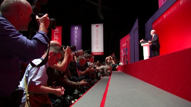 jeremy corbyn speech jeremy corbyn mp speech sot our party is about campaigning and protest but most of all it's about winning power to deliver the... - british labour party stock videos & royalty-free footage