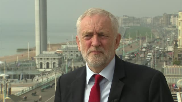 Labour preparing for possible run on pound if it is elected ENGLAND West Sussex Brighton EXT Jeremy Corbyn MP interview SOT re Brexit tarrifffree...