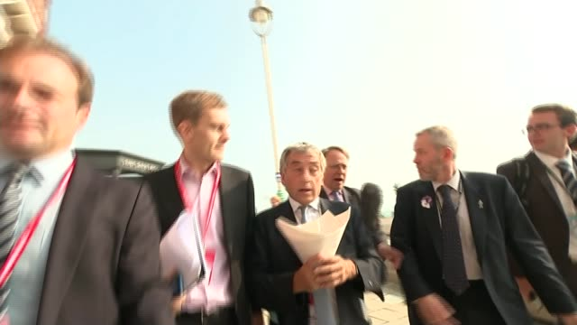 labour preparing for possible run on pound if it is elected west sussex brighton seumas milne along at labour party conference as ignoring questions... - seumas milne stock videos & royalty-free footage