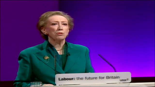 margaret beckett speech england manchester int high angle view conference hall / margaret beckett mp speech sot over the next ten years our world may... - climate finance stock videos & royalty-free footage