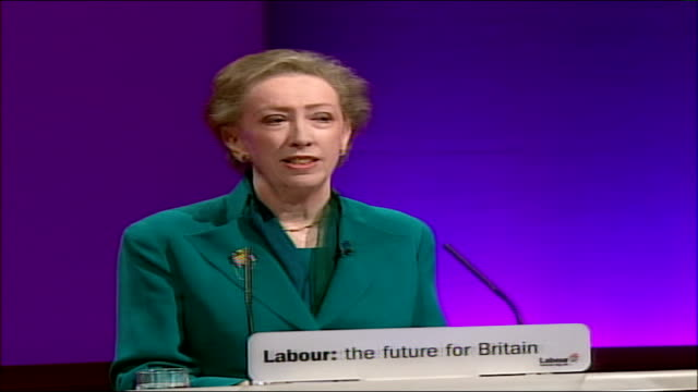 labour party conference: margaret beckett speech; - it's within the un that the international community has expressed its anxiety about iran's... - hazel eyes stock videos & royalty-free footage