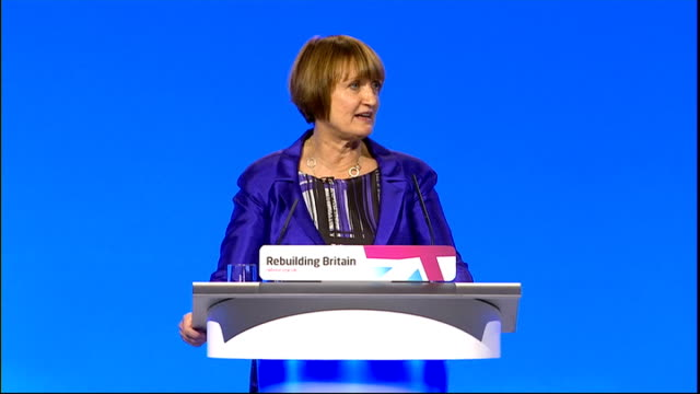 mo farah's former pe teacher criticises cuts to school sports manchester int jowell along on stage towards podium dame tessa jowell mp speeech sot we... - dismantling stock videos and b-roll footage