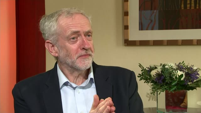 Row over Jeremy Corbyn comments on nuclear weapons ENGLAND East Sussex Brighton EXT Labour Party Leader Jeremy Corbyn towards along road on way to...