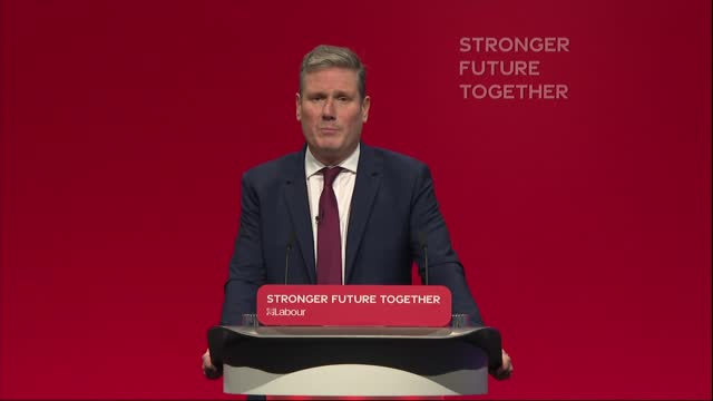 labour party conference: sir keir starmer speech; england: east sussex: brighton: int sir keir starmer mp speech sot - today, conference, i'm here to... - 10 11 years stock videos & royalty-free footage
