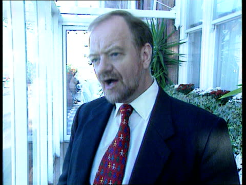 labour party conference tony banks controversy robin cook mp intvwd was a bit concerned about the remark when i heard it / glad that tony has... - tony banks stock videos & royalty-free footage