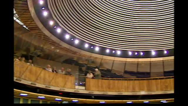 labour party forms coalition with plaid cymru tx welsh national assembly chamber - plaid stock videos & royalty-free footage