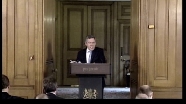electoral commission refer case to the police lib county durham sedgefield int david abrahams sitting in audience at tony blair's resignation speech... - bridgewater hall stock videos & royalty-free footage