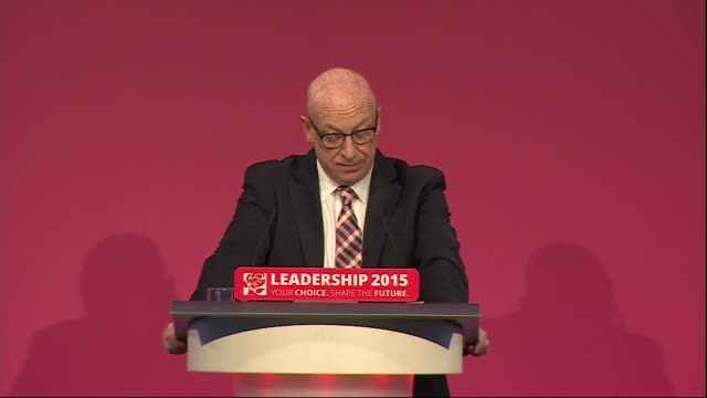 jeremy corbyn elected as labour leader: results and speeches / tom watson deputy leader and sadiq khan labour canditate for london mayor; burnham,... - labour party stock videos & royalty-free footage