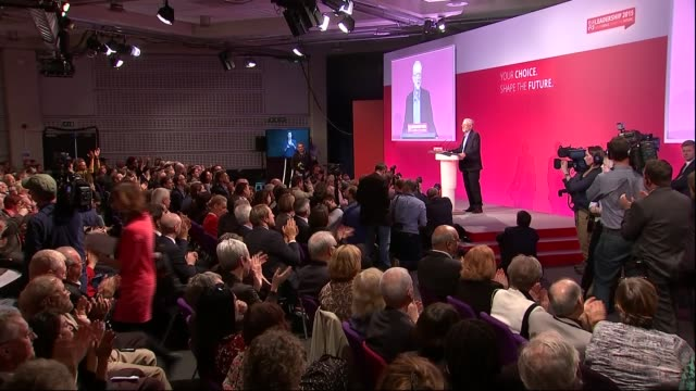 jeremy corbyn elected as labour leader: results and speeches / tom watson deputy leader and sadiq khan labour canditate for london mayor; jeremy... - labour party stock videos & royalty-free footage