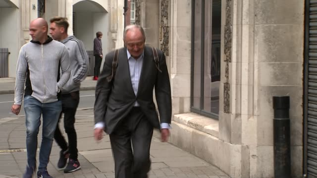 stockvideo's en b-roll-footage met ken livingstone suspended for a year for comments about hitler and zionism 3032017 london ken livingstone arriving at hearing - ken livingstone