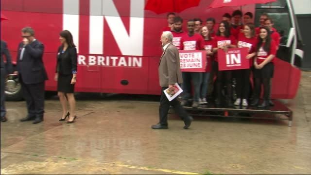 labour party leader jeremy corbyn at a labour in for britain rally - continuity stock videos and b-roll footage