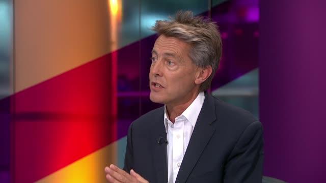 Blair warns of annihilation if Corbyn wins / entryism fears ENGLAND London GIR INT Diane Abbott MP and Ben Bradshaw MP LIVE STUDIO interview SOT