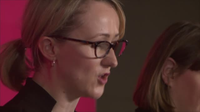 stockvideo's en b-roll-footage met labour party leadership: candidates call for unity in first head-to-head debate; england: liverpool: acc liverpool: int various shots labour... - itv