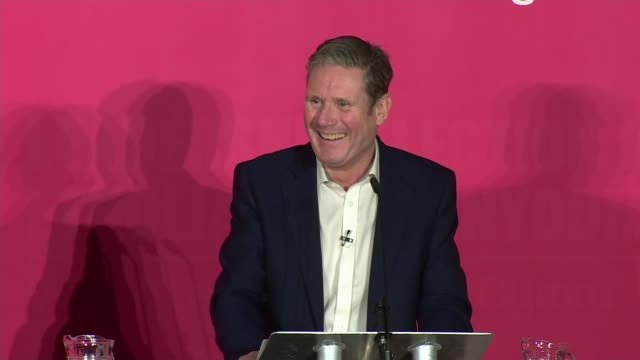 labour party leadership: cardiff hustings - part a; wales: cardiff: int hustings event with emily thornberry mp , lisa nandy mp , rebecca long-bailey... - keir starmer stock videos & royalty-free footage