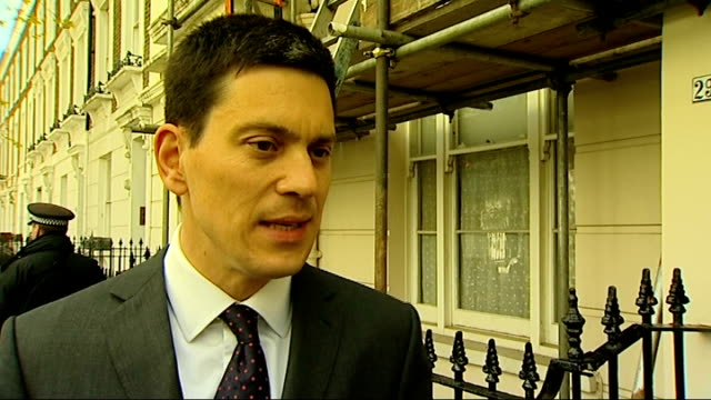david miliband interview england london ext david miliband mp departing house and along to speak to press sot on his labour leadership campaign /... - humility stock videos and b-roll footage