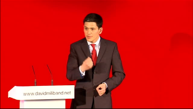 david miliband launches official candidacy miliband speech sot we suffered a chronic financial disadvantage made of error not of nature at least one... - social movement stock videos and b-roll footage