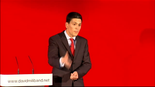 david miliband launches official candidacy miliband speech sot we are building a movement for change not just a political machine movement politics... - politics and government stock videos & royalty-free footage