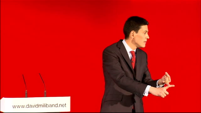 david miliband launches official candidacy miliband speech sot task number two renew and refresh our ideas ideology the best of the last 13 years has... - david miliband stock videos & royalty-free footage
