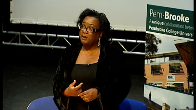 Diane Abbott launches official campaign ENGLAND London Hackney INT Diane Abbott MP seated at table and introduced to applause Abbott speech SOT I am...