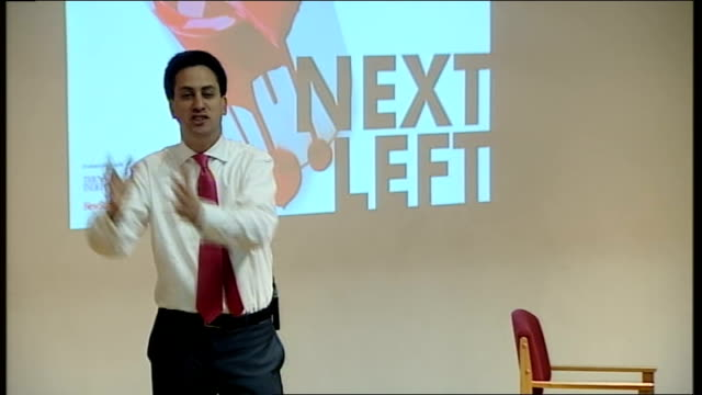 labour party leadership contest: ed miliband launches bid during fabian society speech; ed miliband speech sot - as party members we need to face up... - link chain part stock videos & royalty-free footage