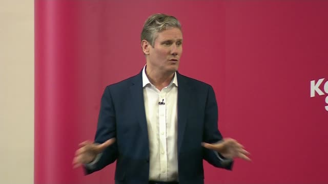 labour party leadership contest: keir starmer leadership campaign launch speech; england: manchester: int sir keir starmer mp speech sot part 2 of 4 - keir starmer stock videos & royalty-free footage