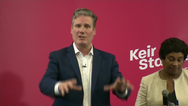 labour party leadership contest: keir starmer leadership campaign launch speech; england: manchester: int sir keir starmer mp question and answer... - keir starmer stock videos & royalty-free footage