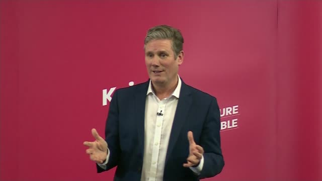 labour party leadership contest: keir starmer leadership campaign launch speech; england: manchester: int sir keir starmer mp speech sot part 3 of 4 - contest stock videos & royalty-free footage