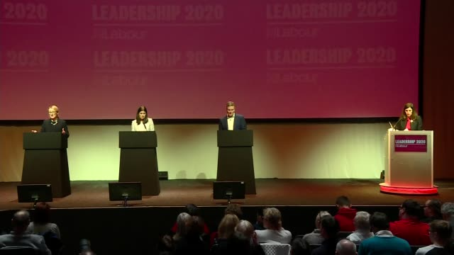 labour party leadership: glasgow hustings event - b; scotland: glasgow: int **picture quality as incoming** hustings event part 11 of 19 sir keir... - keir starmer stock videos & royalty-free footage