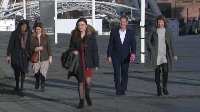 labour party leadership: liverpool hustings debate: keir starmer and rebecca long-bailey arrivals; england: liverpool: ext sir keir starmer mp along... - keir starmer stock videos & royalty-free footage