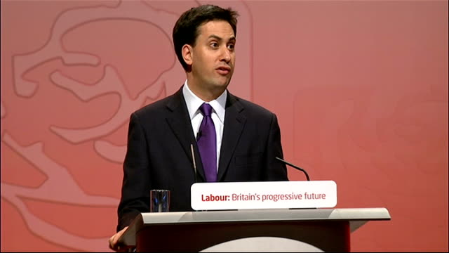 announcement and Ed Miliband speech Ed Miliband speech continued SOT I get it that people felt they were working long hours without reward and we...