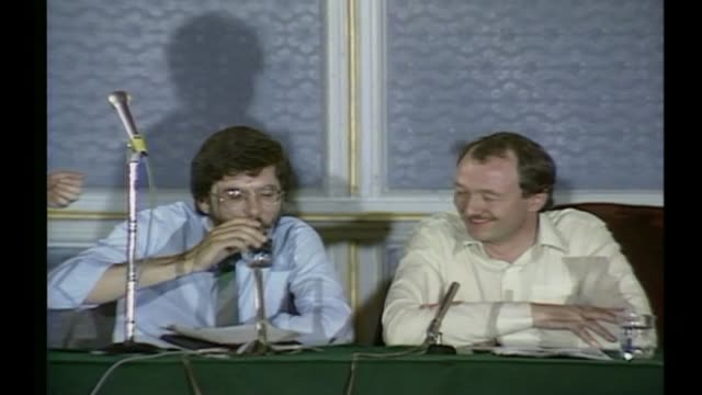 livingstone faces explusion over claims that hitler supported zionism labour party livingstone faces explusion over claims that hitler supported... - gerry adams stock videos and b-roll footage