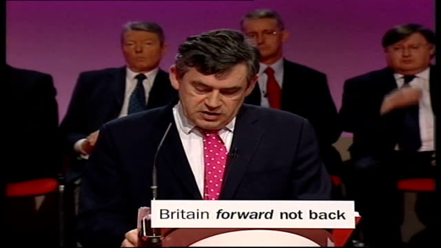 vídeos y material grabado en eventos de stock de manifesto launched; gordon brown press conference sot - because pensioners have given so much and have sommuch to give to our country we will not go... - new age