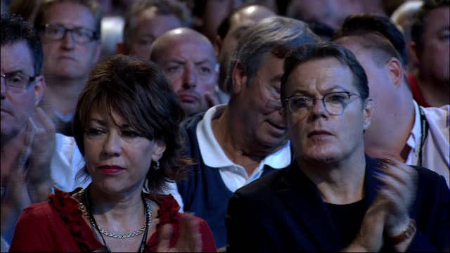 labour party member frustrated over slow appointment of london mayor candidate lib / int kathy lette and eddie izzard applauding wide shot stage and... - kathy lette stock videos & royalty-free footage