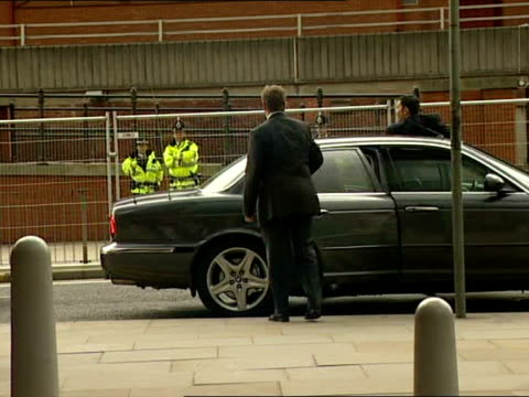 arrivals and departures **beware england manchester bridgewater hall labour party conference ext tony blair arriving in car / blair along shaking... - bridgewater hall stock videos & royalty-free footage