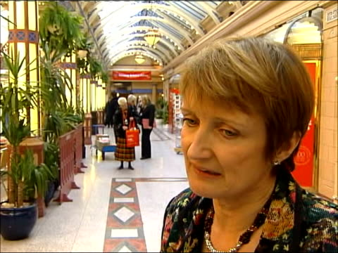 labour party spring conference 2006 / loss of dunfermline and west fife seat england lancashire blackpool int tessa jowell mp interview sot it's... - dunfermline stock videos & royalty-free footage