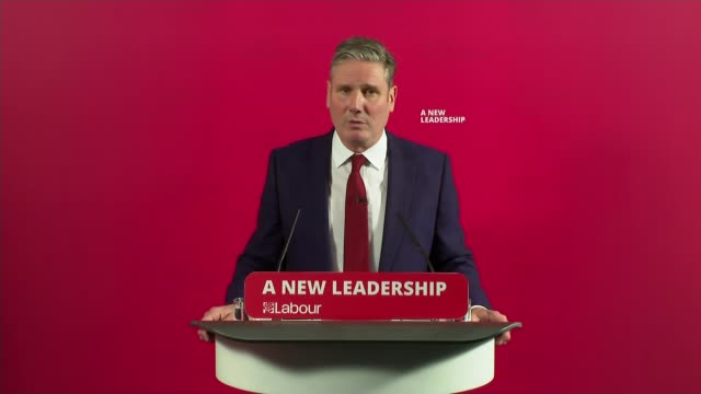 labour party suspends jeremy corbyn over antisemitism report comments; uk, london: jeremy corbyn and sir keir starmer interviews. england: london:... - sadness stock videos & royalty-free footage