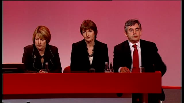 straw proposes self defence laws review general view of labour party annual conference straw speaking gordon brown mp seated on stage next smith and... - self defence stock videos & royalty-free footage