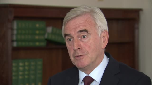 John McDonnell interview SKY ENGLAND London INT John McDonnell MP interview re uturn on supporting govt plans to run a budget surplus SOT I changed...